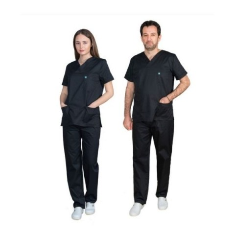 Ιατρική Στολή Unisex – Μαύρο