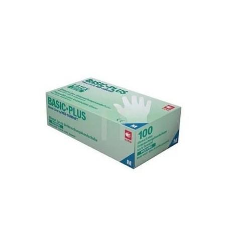 Γάντια Latex χωρίς πούδρα Basic-Plus (πακ. 100 τμχ)
