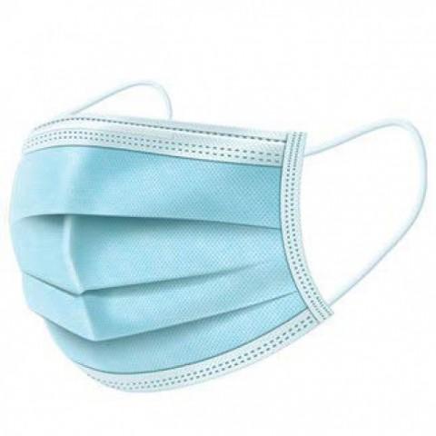 Μάσκα προστασίας με Λάστιχο 3-PLY Non Woven Ιατρική