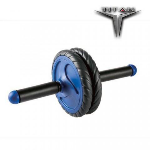 TITAN Ρόδα γυμναστικής μαύρο/μπλε Φ 16,5