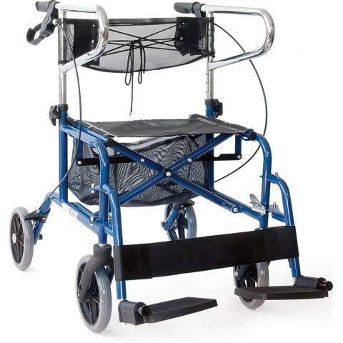 Περιπατητήρας πτυσσόμενος Rollator με Υποπόδια