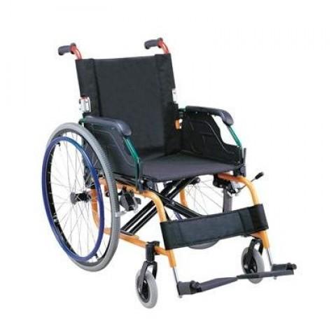 Πτυσσόμενο αναπηρικό αμαξίδιο αλουμινίου ελαφρού τύπου