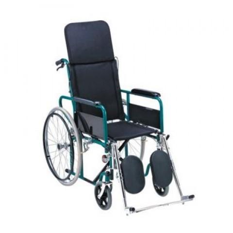 Αναπηρικό αμαξίδιο μεταλλικό με ανακλινόμενη πλάτη