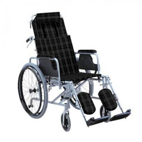 Αναπηρικό αμαξίδιο αλουμινίου με ανακλινόμενη πλάτη