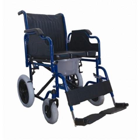Αναπηρικό αμαξίδιο με μεσαίους τροχούς με δοχείο wc