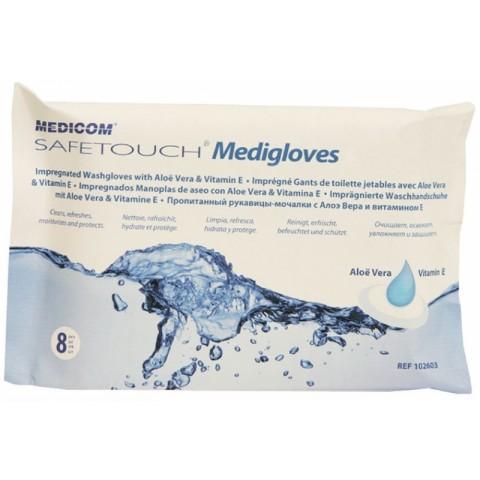 Γάντια καθαρισμού σώματος 8 τμχ. με Aloe Vera και Βιταμίνη E