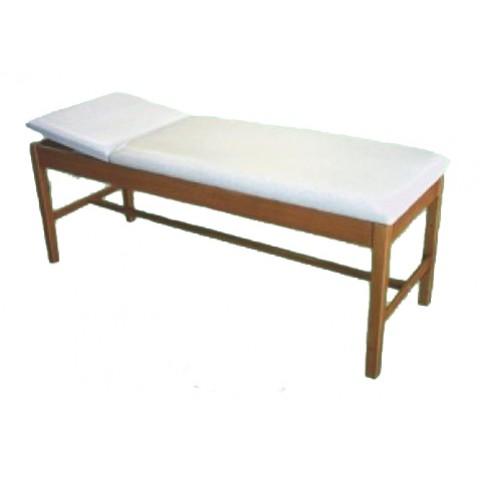Εξεταστικό κρεβάτι ξύλινο με ίσιο προσκέφαλο