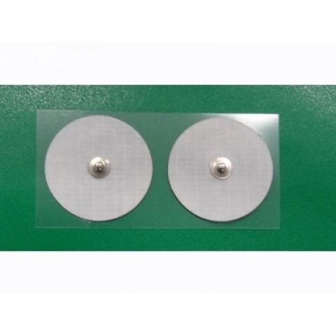 Ηλεκτρόδια υφασμάτινα στρογγυλά με κλιπ 4 τμχ