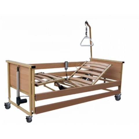 Ηλεκτρικό νοσοκομειακό κρεβάτι πλήρες με ξύλινες τάβλες Trento 2