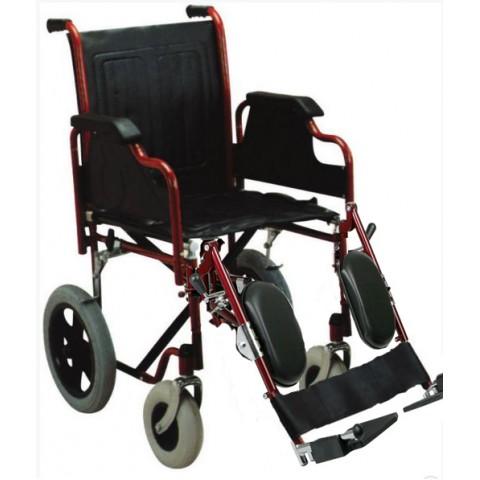 Αναπηρικό αμαξίδιο με μεσαίους τροχούς με ανακλινόμενα υποπόδια