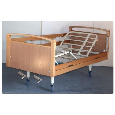 Νοσοκομειακό κρεβάτι ξύλινο χειροκίνητο πολύσπαστο Opus 6