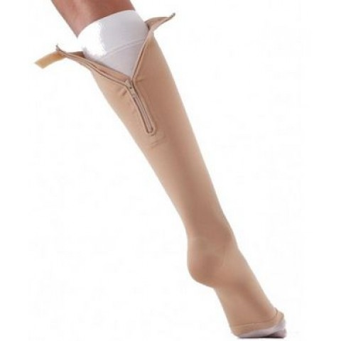Κάλτσα συμπίεσης Varisan-top κλάση II κάτω γόνατος με φερμουάρ