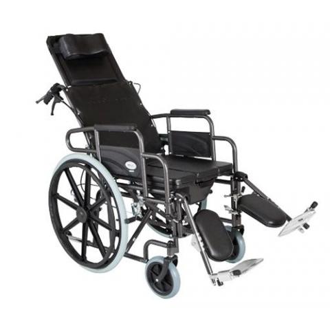 Αναπηρικό αμαξίδιο με δοχείο και ανακλινόμενη πλάτη