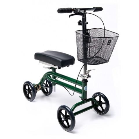 Τροχήλατη πτυσσόμενη στήριξη γονάτου για βάδιση Classic Πράσινο