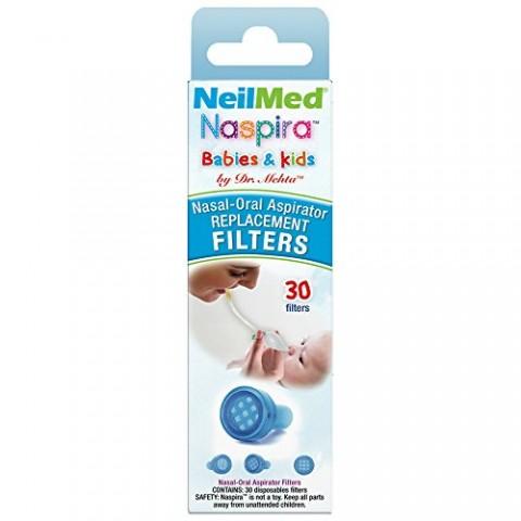 NeilMed Naspira Babies & Kids (Ανταλλακτικά Φίλτρα 30 τμχ)