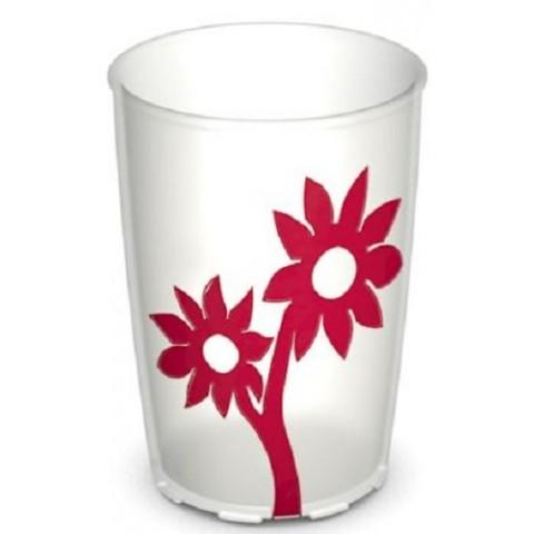 Ποτήρι με λουλούδια