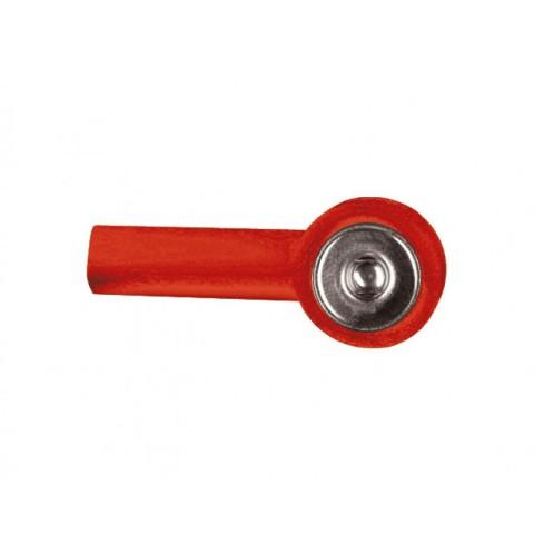 Αντάπτορας με εσοχή 2mm (κόκκινο/μαύρο) 10τμχ