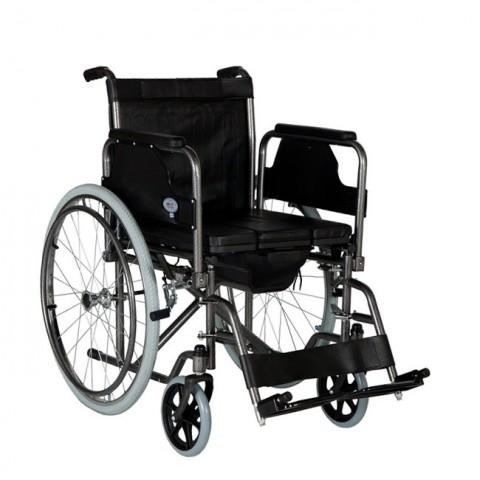 Αναπηρικό αμαξίδιο με δοχείο και μεγάλους τροχούς