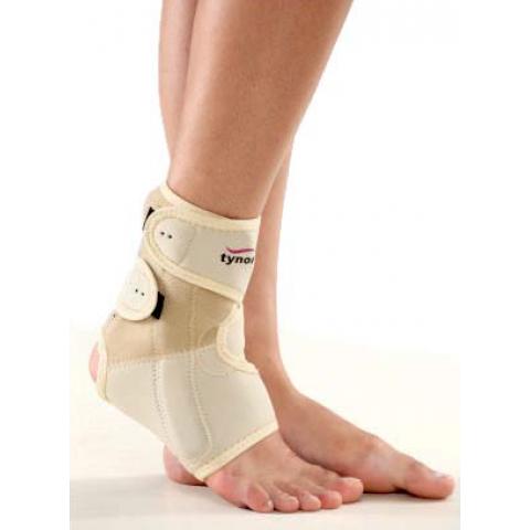 """Επιστραγαλίδα neoprene με σταθεροποιητικούς ιμάντες και πλάγιες μπανέλλες """"ankle support""""."""