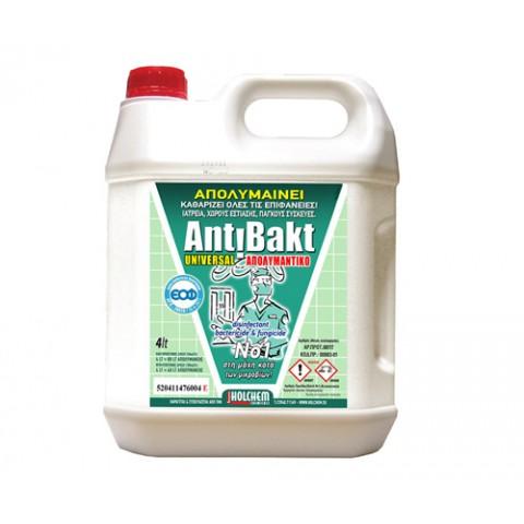 Απολυμαντικό επιφανειών χωρίς άρωμα Antibakt Universal (4lt)