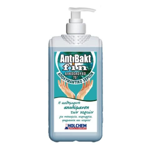 Απολυμαντικό χεριών σε υγρή μορφή Antibakt Fin (500ml/1lt/4lt)