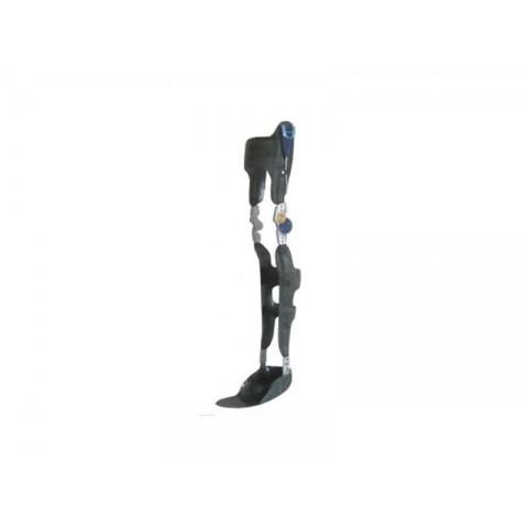Μηροκνημοποδικός κηδεμόνας με μηχανική άρθρωση αυτόματης ασφάλισης/απασφάλισης γόνατος