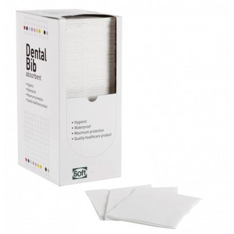 Οδοντιατρική πετσέτα 1ply χαρτί + 1ply πλαστικό 500τμχ (με κουτί)