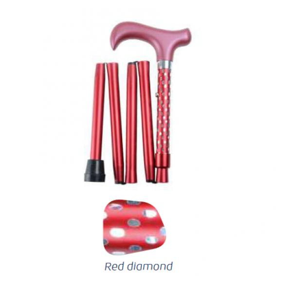 Πολύχρωμο σπαστό μπαστούνι Red diamond