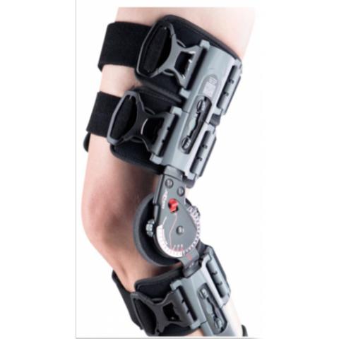 """Τηλεσκοπικός μηροκνημικός λειτουργικός νάρθηκας """"X-act rom knee brace""""."""