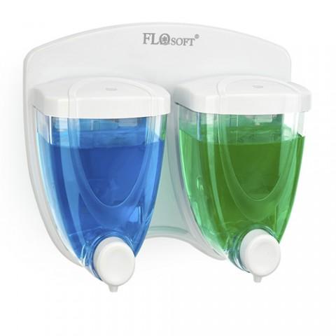 Συσκευή-dispenser αντισηπτικού πλαστικό διπλό 350+350 ml