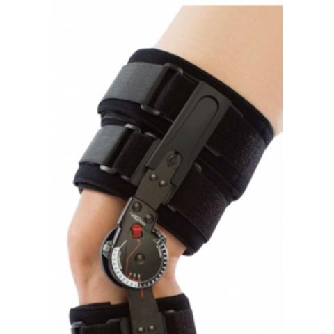 """Τηλεσκοπικός μηροκνημικός λειτουργικός νάρθηκας """"X-act rom lite knee brace""""."""
