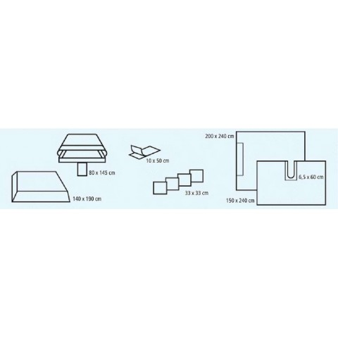 Foliodrape σετ γενικής χρήσης I comfort συσκευασία των 6 σετ