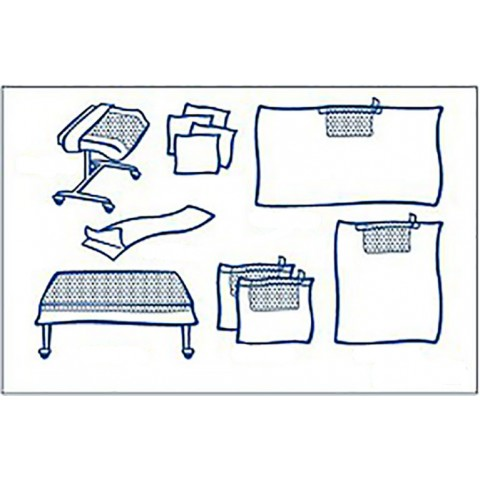 Foliodrape σετ γενικής χρήσης protect plus super συσκευασία των 5 σετ