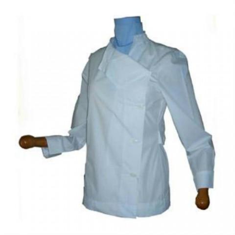Μπλούζες λευκές κοντές -σύνθεση 35% βαμβάκι-65% πολυεστέρας με κλείσιμο στο πλάι γυναικείες