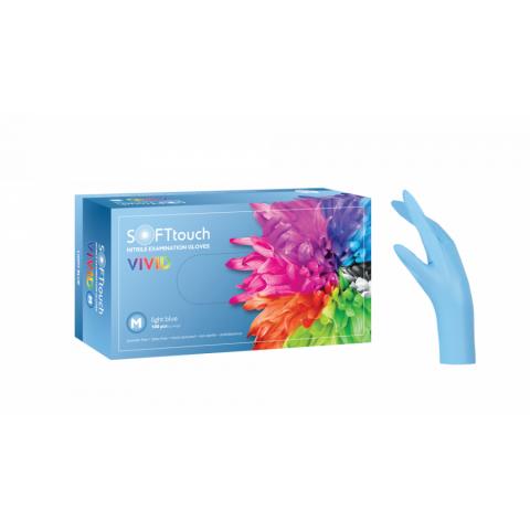 Γάντια νιτριλίου Vivid μιας χρήσης - Γαλάζιο (100 τμχ.)