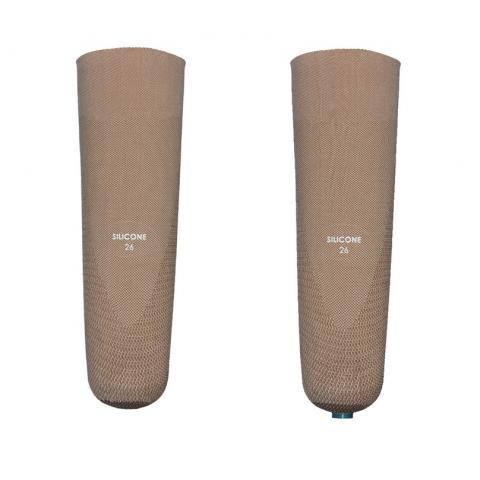 Κάλτσα σιλικόνης με ύφασμα χωρίς ραφές, με ή χωρίς πύρο