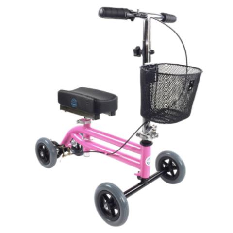Τροχήλατη πτυσσόμενη στήριξη γονάτου για βάδιση παιδιατρικό ροζ η μπλε