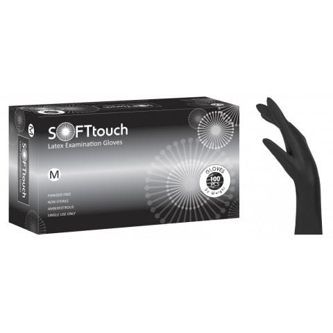 Γάντια Latex Soft Touch μαύρο χωρίς πούδρα (100 τεμάχια)