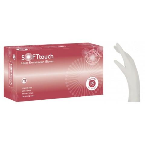 Γάντια Latex Soft Touch λευκό χωρίς πούδρα (100 τεμάχια)
