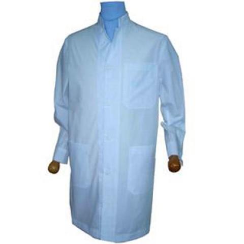 Μπλούζες λευκές μακριές -σύνθεση 35% βαμβάκι-65% πολυεστέρας όρθιος γιακάς ανδρικές