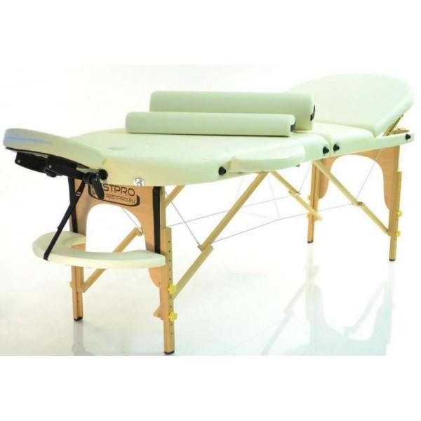 Rest Pro Oval 3 Κρεβάτι Φυσικοθεραπείας-Μασάζ Βαλίτσα Ξύλινο