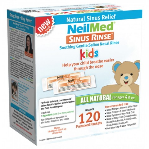 NeilMed Sinus Rinse Pediatric 120 Refill (Ανταλλακτικοί Παιδιατρικοί Φάκελοι Για 120 Χρήσεις)