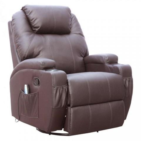 Πολυθρόνα θερμαινόμενη Relax-Massage 8 σημείων περιστρεφόμενη