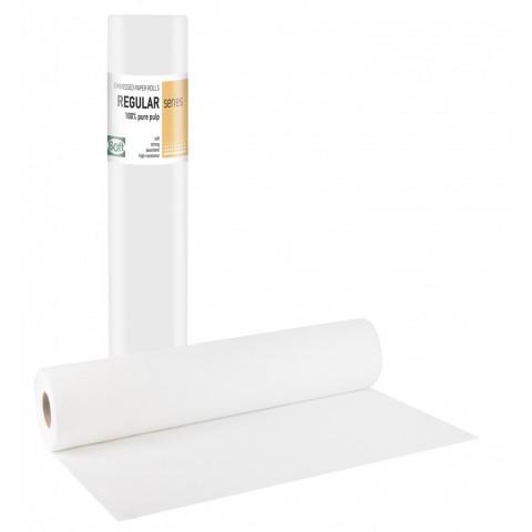 Εξεταστικό χάρτινο δίφυλλο ρολό γκοφρέ (12 τεμάχια)
