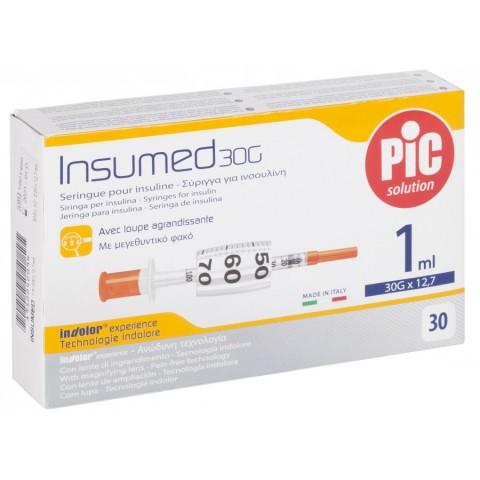 Σύριγγες με βελόνα Pic 1cc Ινσουλίνης  ( G-27/G-30)