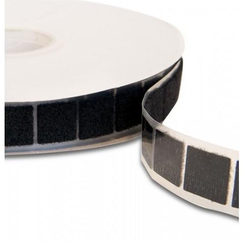 Αυτοκόλλητα τύπου Velcro σε τετράγωνη μορφή με αυτοκόλλητο στην πίσω πλευρά