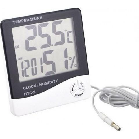 4 σε 1 θερμόμετρο, υγρόμετρο, ρολόι, ξυπνητήρι