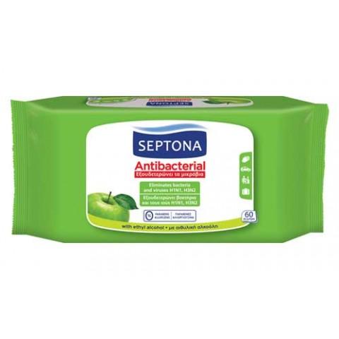 Αντιβακτηριδιακά μαντηλάκια χεριών με άρωμα πράσινο μήλο (60 τμχ.)