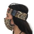 Μάσκα Προστασίας με μπαντάνα κεφαλής και συγκράτηση της μάσκας επάνω της