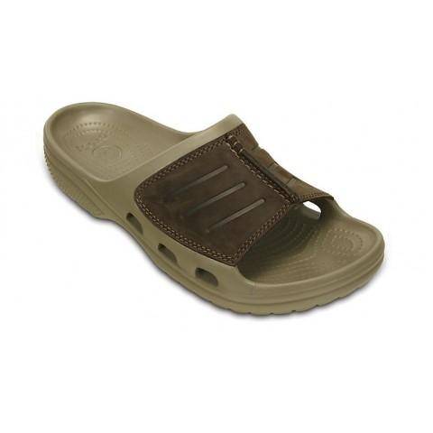 Crocs Yukon Mesa Slide Khaki/Espresso Ανδρικές Παντόφλες